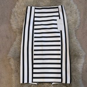 Zara Striped Pencil Skirt